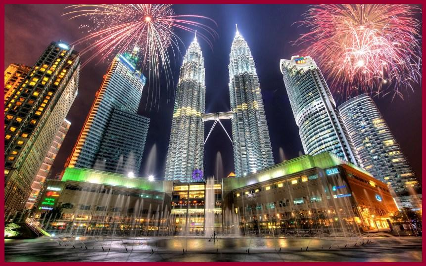 Petronas-Towers-Fireworks-Kuala-Lumpur-Malaysia